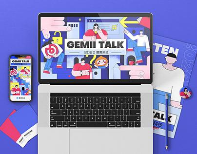 2020 Gemii Talk 设计活动 KV -Brand IP Creation