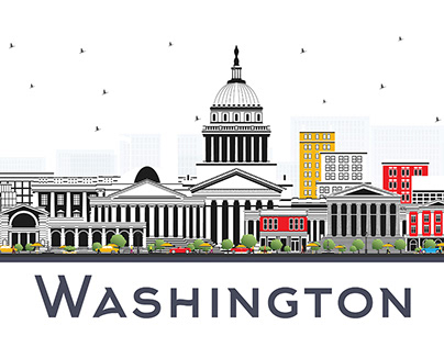 Washington DC USA City Skyline.