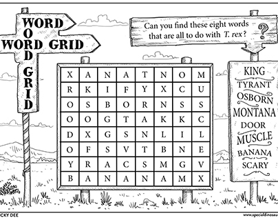 PUZZLES for www.specialdinosaurs.com