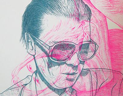 Alex Cameron + Surma . Gig Poster