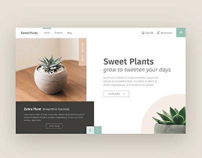 Plant Shop Landing Page Header Concept