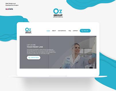 OZ Group Website UI Design and Development
