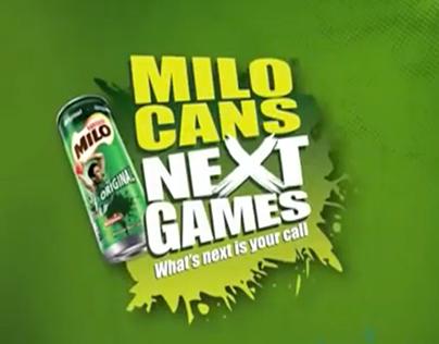 MILO Cans Next Games