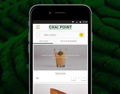 Chai Point - Mobile App UI/UX