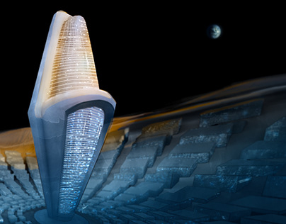 Ciudad en la luna - concept art