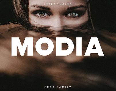 Free Modia Sans Serif Font
