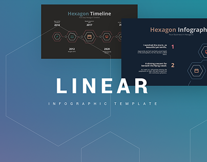 Free - Linear Infographic Template