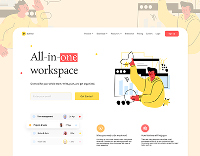 All-In-One Workspace Website