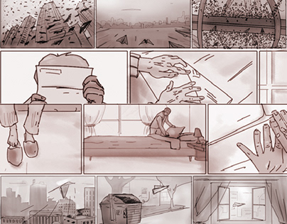 Storyboard panels