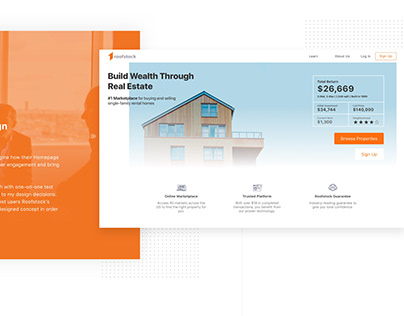 UX Homepage Redesign - Roofstock