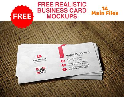 Free Realistic Business Card Mockup