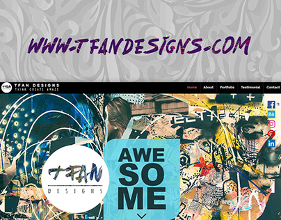 TFAN DESIGNS WEBSITE
