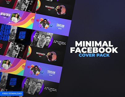 Minimal Facebook Cover Pack | Free Download