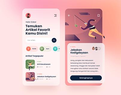 Article App Design Exploration