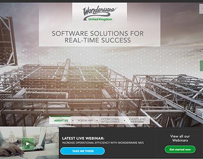 Wonderware website redesign
