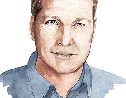 Portrait illustration - Watercolors