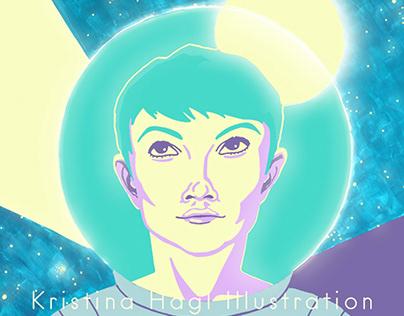 SPACE WOMAN Illustration