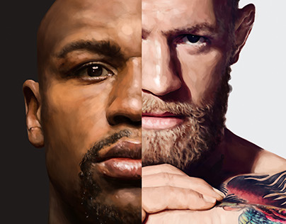 Mayweather vs McGregor - Event Poster