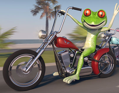 Frogs on Motorcycles