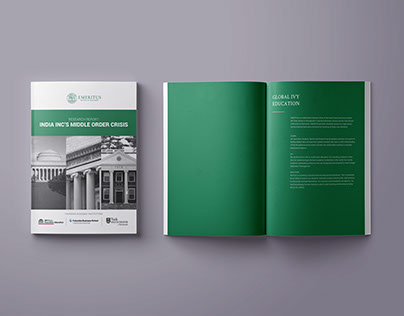 Research report design + infographics