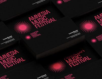 Amnesia Music Festival - Brand Identity