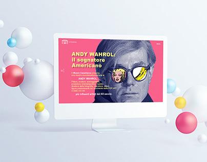 Andy Wahrol at Museo Casabianca | Web Design