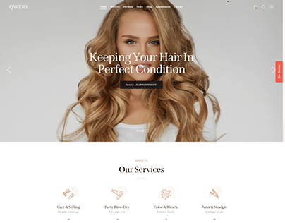 Qwery - Multi-Purpose Business WP Theme: Hairdresser