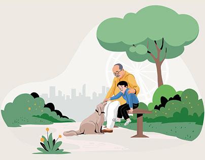 Illustrations - Family Life