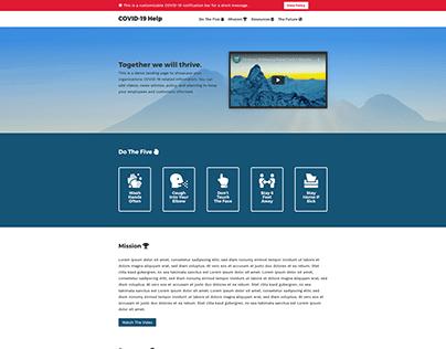 COVID-19 Landing Page