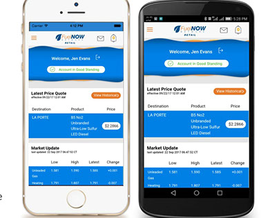 FuelNOW Network Retail - Mobile App UX/UI Design