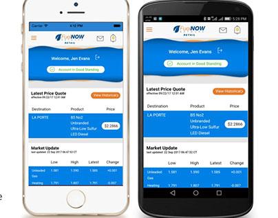 FuelNOW Network Retail - Mobile App UX/UI Design