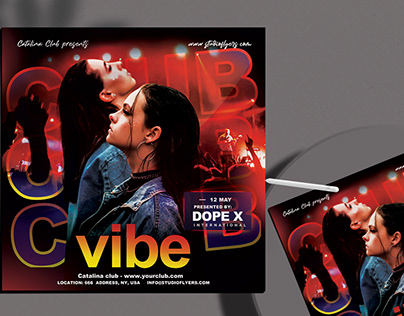 Club Vibe Flyer Free PSD Template