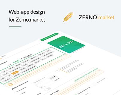 Web-app design Zerno.market