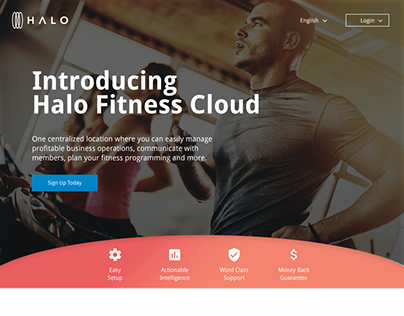 Halo Fitness Cloud Index Page