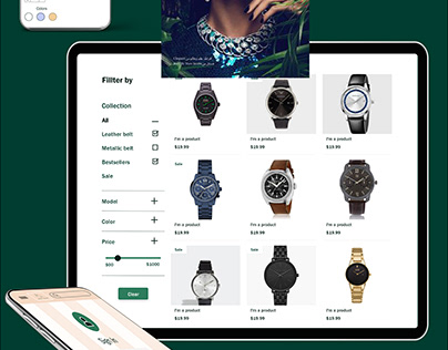 Presentation of website jewelry and watches