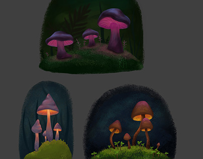 A STUDY - Glowing Mushrooms