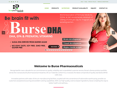 Burse Pharmaceuticals (Pvt) Ltd Website developments