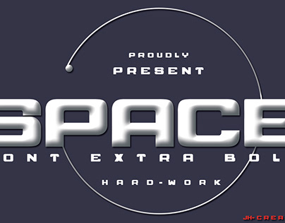 SPACE FONT STRONG BOLD