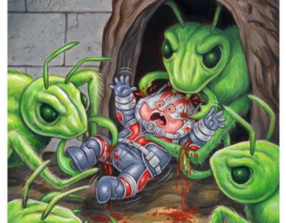 TUTORIAL: Ant-Man Garbage Pail Kids trading card