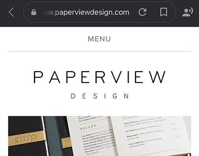 Paperview Design logo showcase