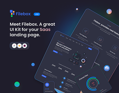 Filebox: Landing Page UI KIt