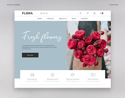 Flowers store | UX/UI design