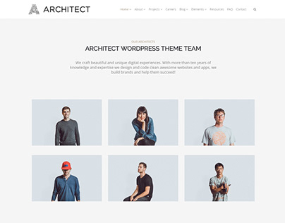 Team Members Section - Architect WordPress Theme