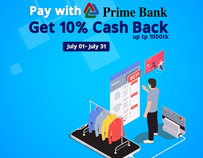 Prime Bank 10% Cash Back offer