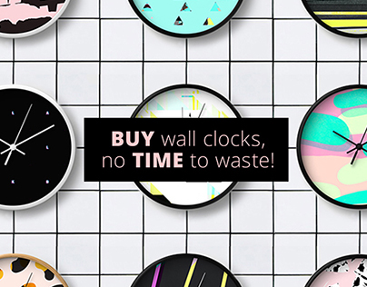 personal design project / wall clocks