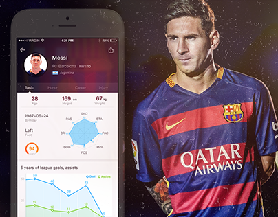 About football fans app Design