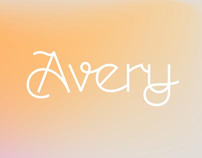 Avery Art Deco Script font