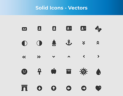 Solid Icons - Vectors