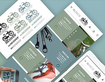 BIKESHOP | logo | UI design