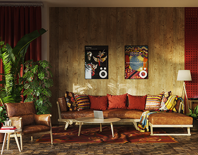 Living room & Kitchen CGI
